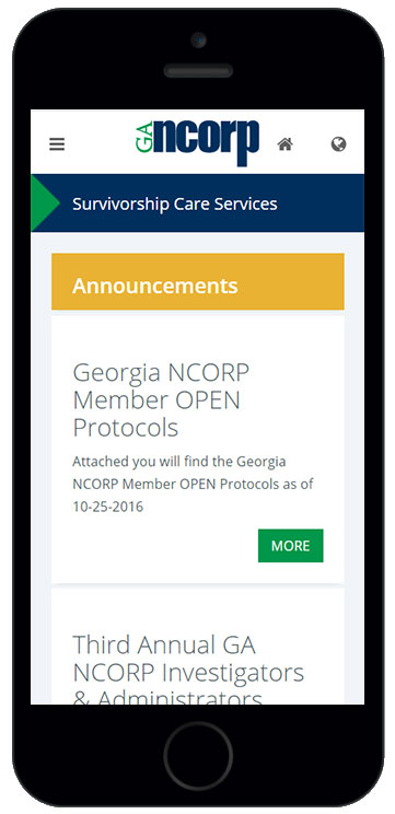 Georgia NCORP Admin App
